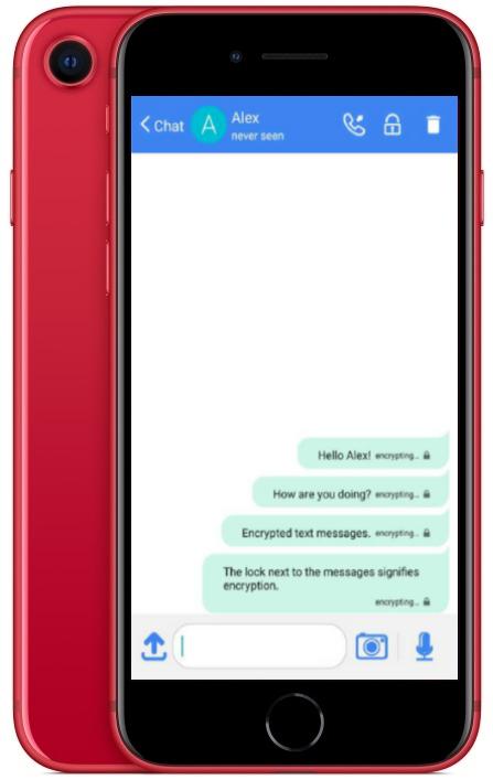 KryptoPhone X - Text Messages