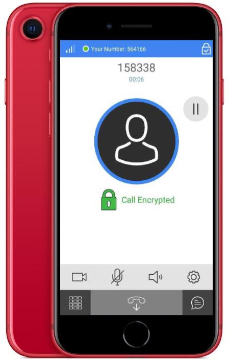 KryptoPhone X - Encrypted Call