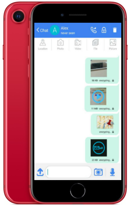KryptoPhone X - File Sharing